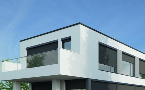 Die Fenstermarkise zip_2.0 beschattet eine Fensterfläche von bis zu zwanzig Quadratmeter und ist in den Kassettengrößen 110 und 150 Millimeter erhältlich.