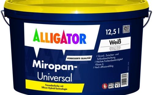 Die verbesserte Fassadenfarbe Miropan-Universal von Alligator: Handwerker profitieren von der schnellen und zudem einfachen Verarbeitung.