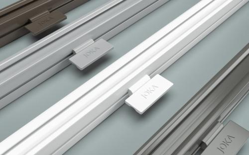 Das EOS-System ist ein Gütesiegel für höchste Funktionalität und Designqualität. Auch im modernen Metallgriff wird das wertige Joka Branding sichtbar.
