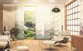 """Die Hi-Light-Behänge eignen sich unter anderem für offene Wohnkonzepte, Raumteilungen und Homeoffice-Lösungen. Im Bild: das Motiv """"Valley""""."""