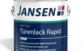 Handwerkliche Oberflächenperfektion mit Jansen ISO-TLR Türenlack Rapid.